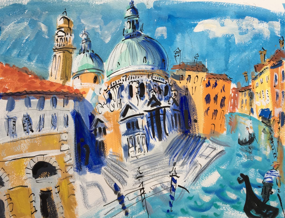 Ian Weatherhead SALUTE REVISITED, VENICE Gouache on paper 13 x 17 in. 33.02 x 43.18 cm