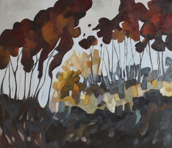 Teresa Lawton THE HOLLOWS Oil on canvas 12 x 14 in. 30.48 x 35.56 cm