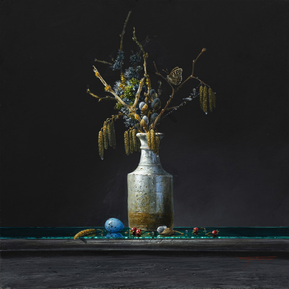 Bryan Hanlon HAZEL COPPICE Acrylic on board 16 x 16 in. 40.64 x 40.64 cm