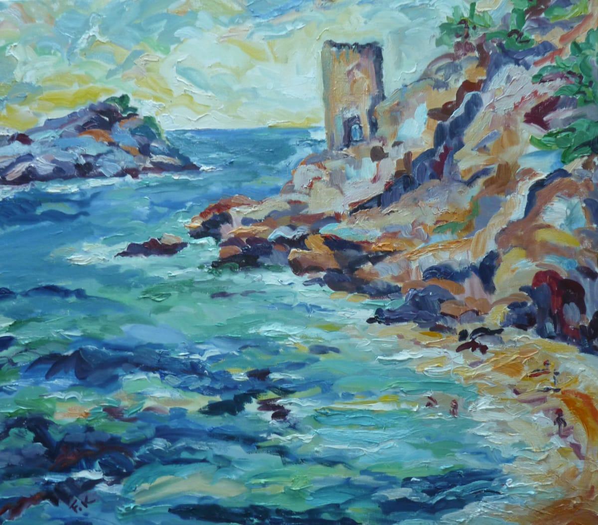 Fi Katzler CALANQUE DE LA COTE BLEUE Oil on canvas 26 x 29 in. 66.04 x 73.66 cm