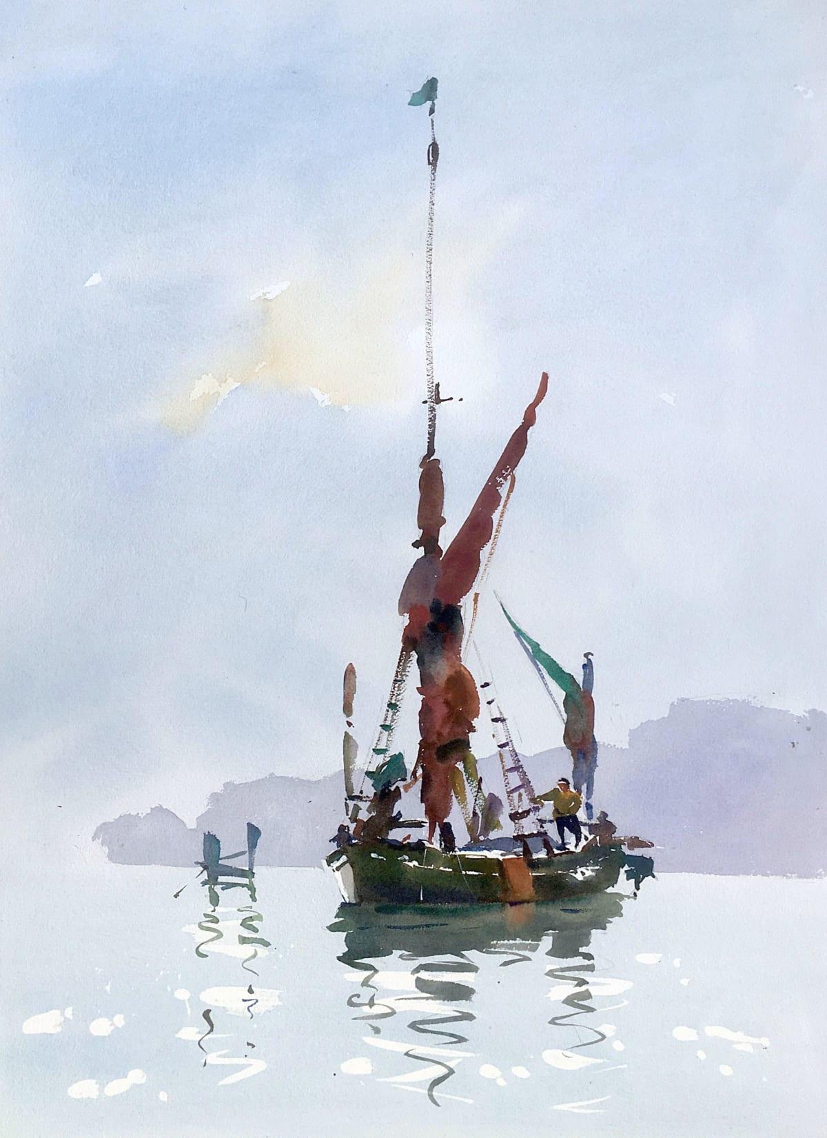 Jake Winkle DAY TRIPPERS Watercolour 28 x 20 in 71.1 x 50.8 cm