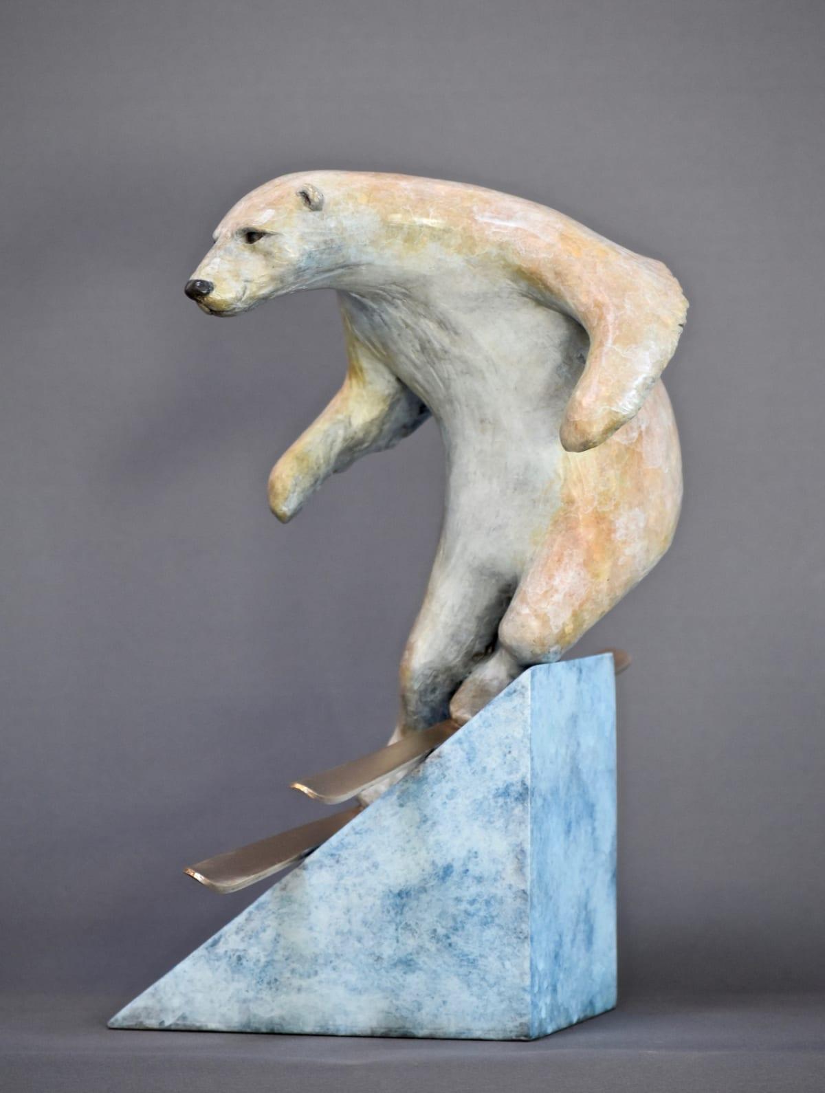 Bryn Parry SKI BEAR Bronze 31 X 31 X 23cm