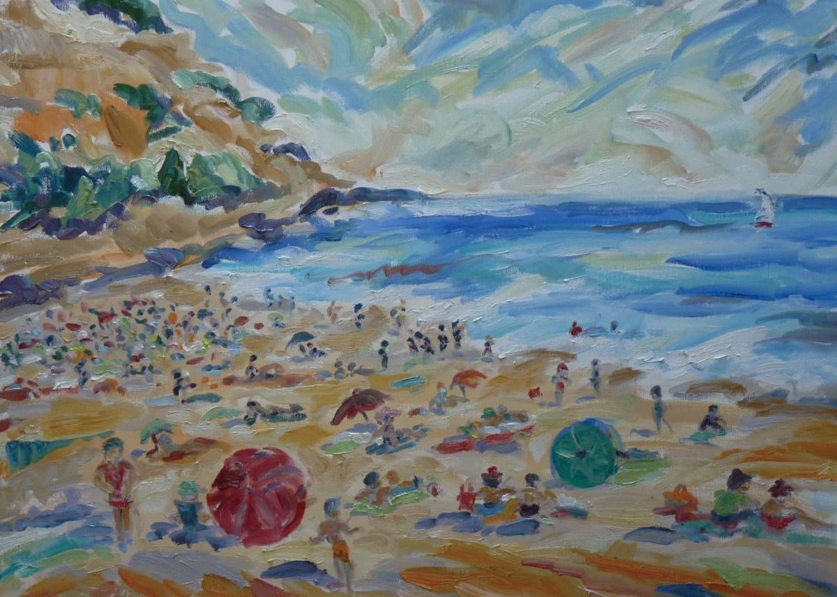 Fi Katzler CASSIS BEACH TIME Oil on canvas 21 x 29 in. 53.34 x 73.66 cm