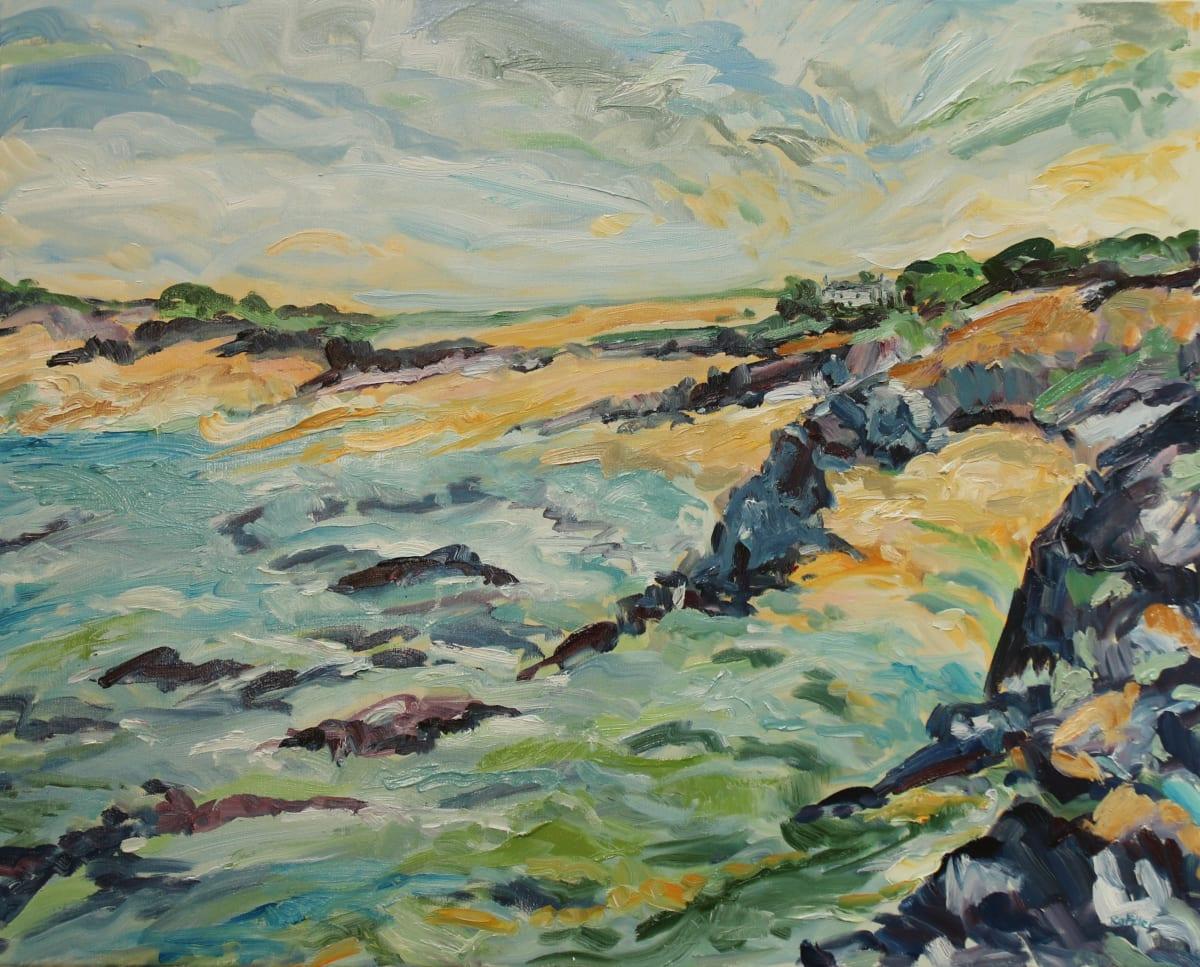 Fi Katzler CORNISH BAY Oil on canvas 26 x 32 in. 66.04 x 81.28 cm