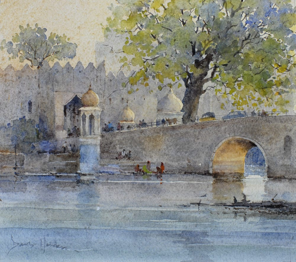 "David Howell CITY GATE, UDAIPUR Watercolour 8"" x 10"""