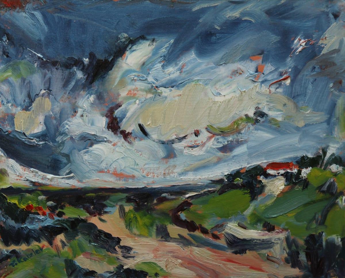 Fi Katzler NATURE RESERVE FARO Oil on canvas board 13 x 16 in. 33.02 x 40.64 cm