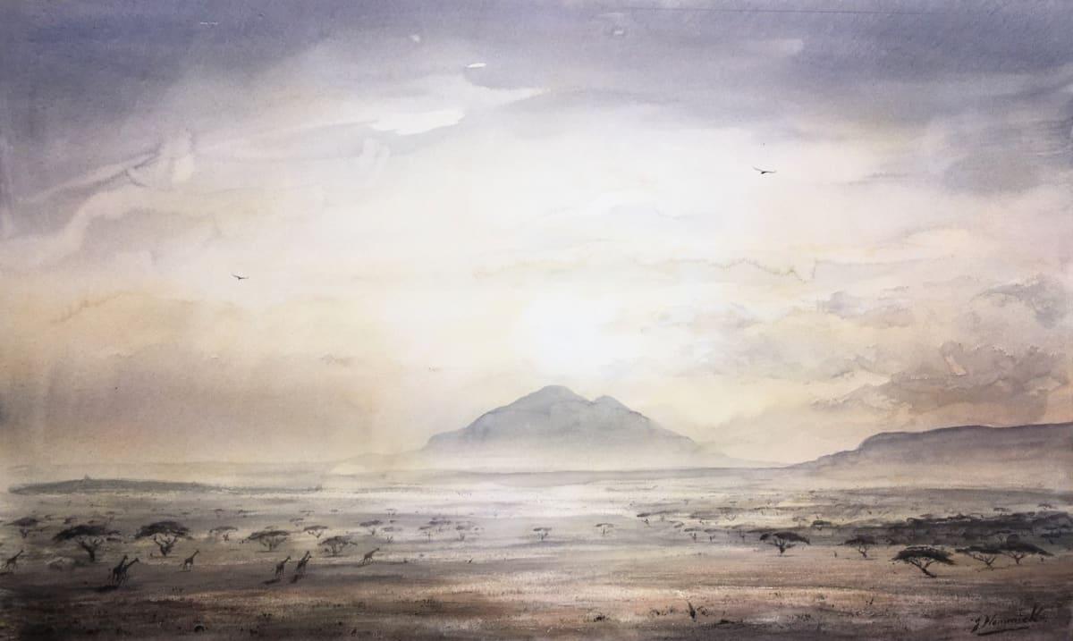 Jeremy Hammick DUSK Watercolour 13 x 21 in. 33.02 x 53.34 cm