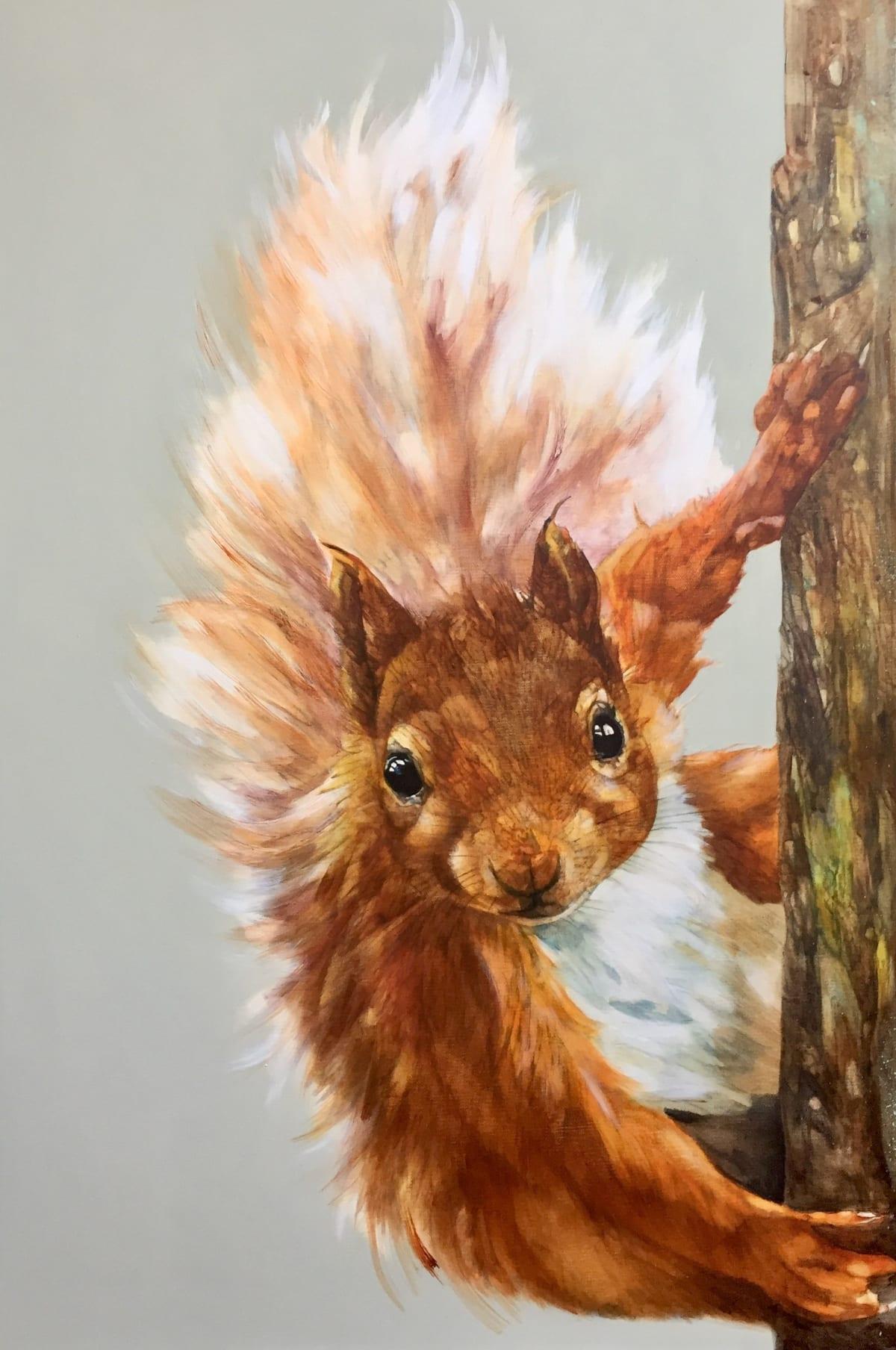 Paula Vize BIRKHALL VISITOR Acrylic on box canvas 24 x 36 in. 60.96 x 91.44 cm