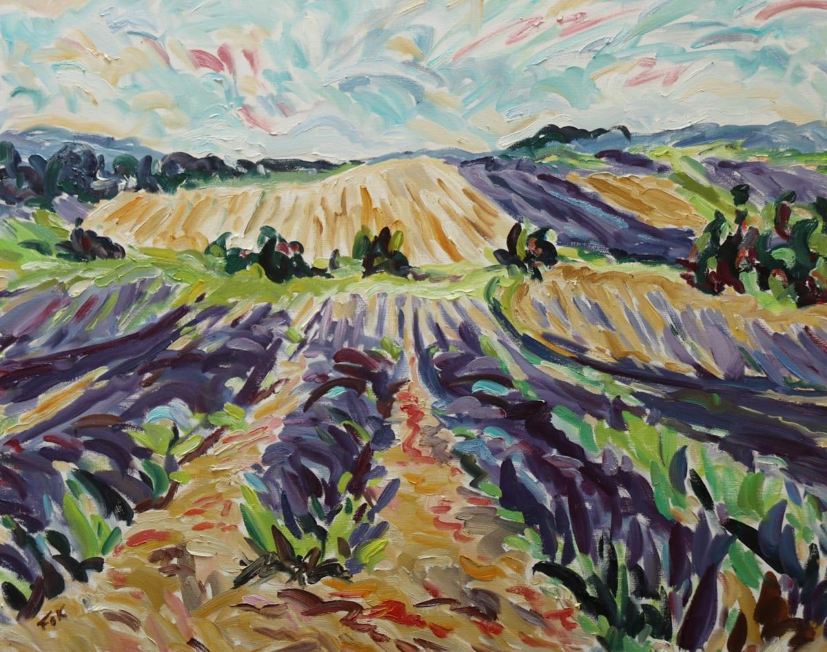Fi Katzler ENDLESS LAVENDER Oil on canvas 26 x 32 in. 66.04 x 81.28 cm