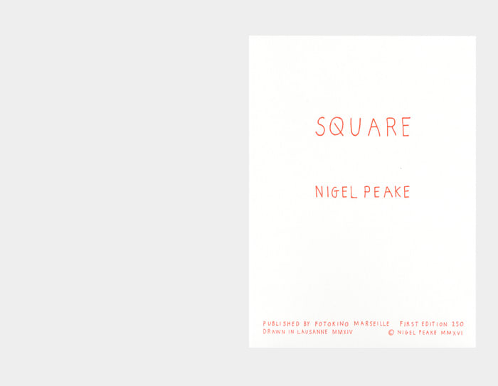 Nigel Peake Square, 2016 Risography 8 3/10 × 5 9/10 in 21 × 15 cm