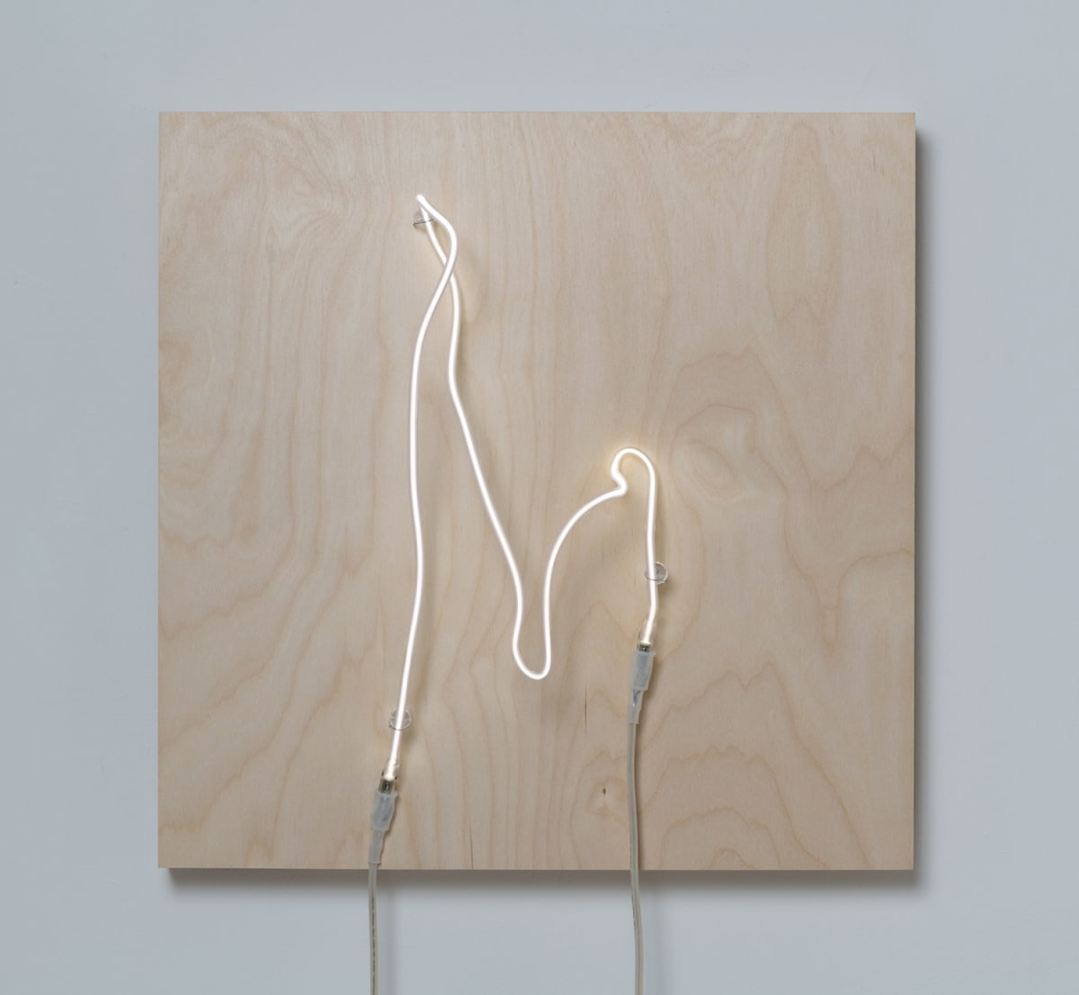 Annesta Le Exposed Form No.5, 2019 Neon (krypton, glass, wire) on wood panel 24 x 24 x 8 1/2 in 61 x 61 x 21.6 cm