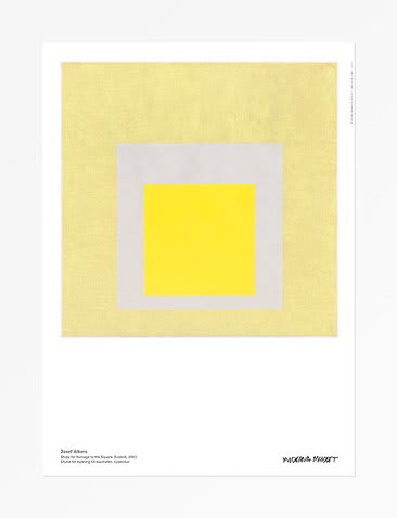Josef Albers Study for Homage to the Square. Evident Poster 19 3/4 x 27 1/2 in 50 x 70 cm