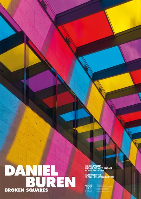 Daniel Buren Poster 32.87 x 23.23 in 83.5 x 59 cm