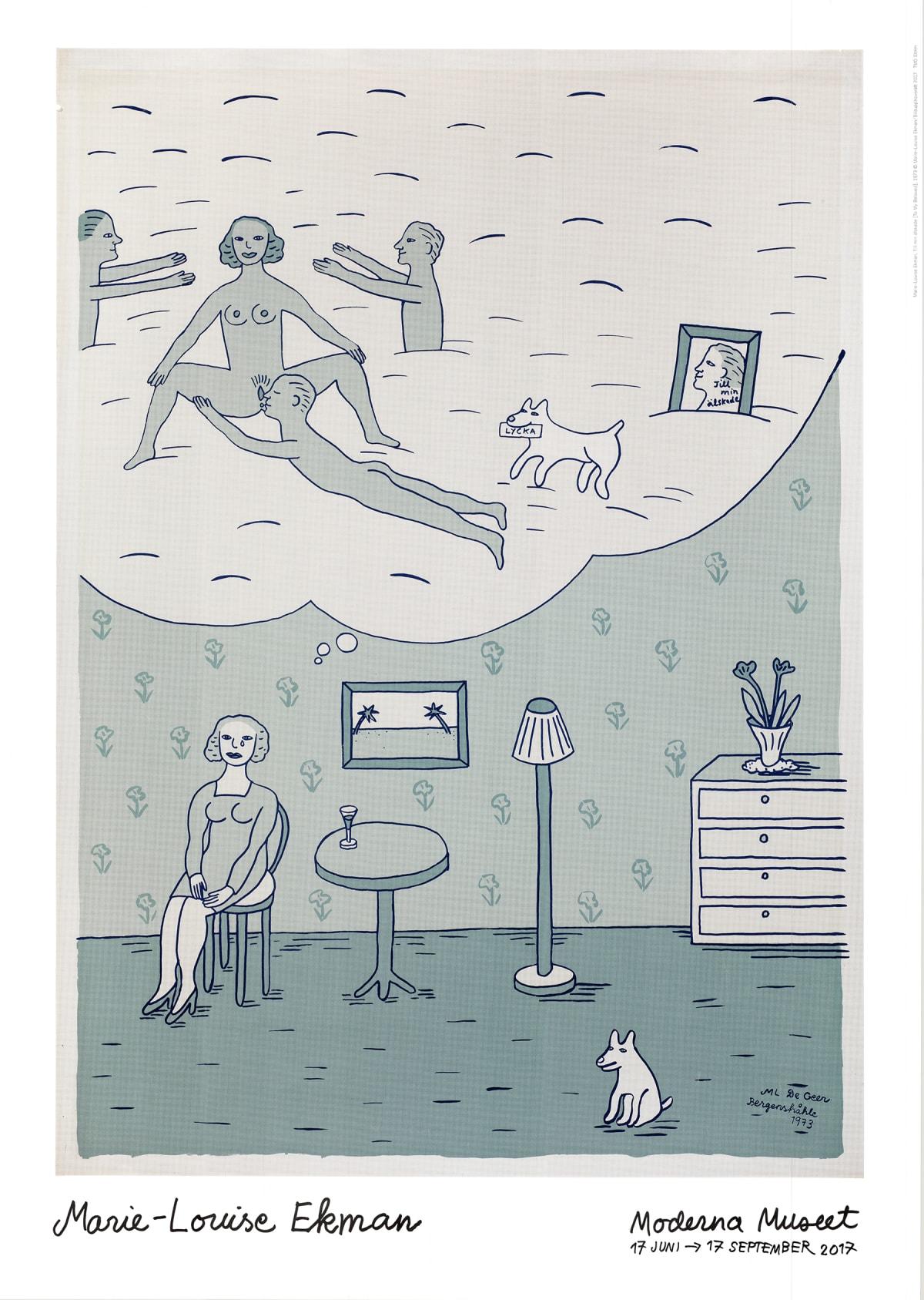Marie-Louise Ekman Till min älskade (To my beloved), 2017 Poster 19 3/4 x 27 1/2 in 50 x 70 cm