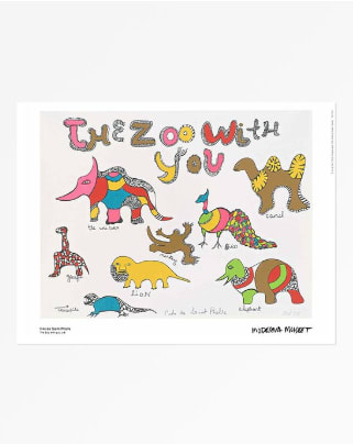 Niki de Saint Phalle The Zoo with You, 2018 Poster 11 3/4 x 15 3/4 in 30 x 40 cm