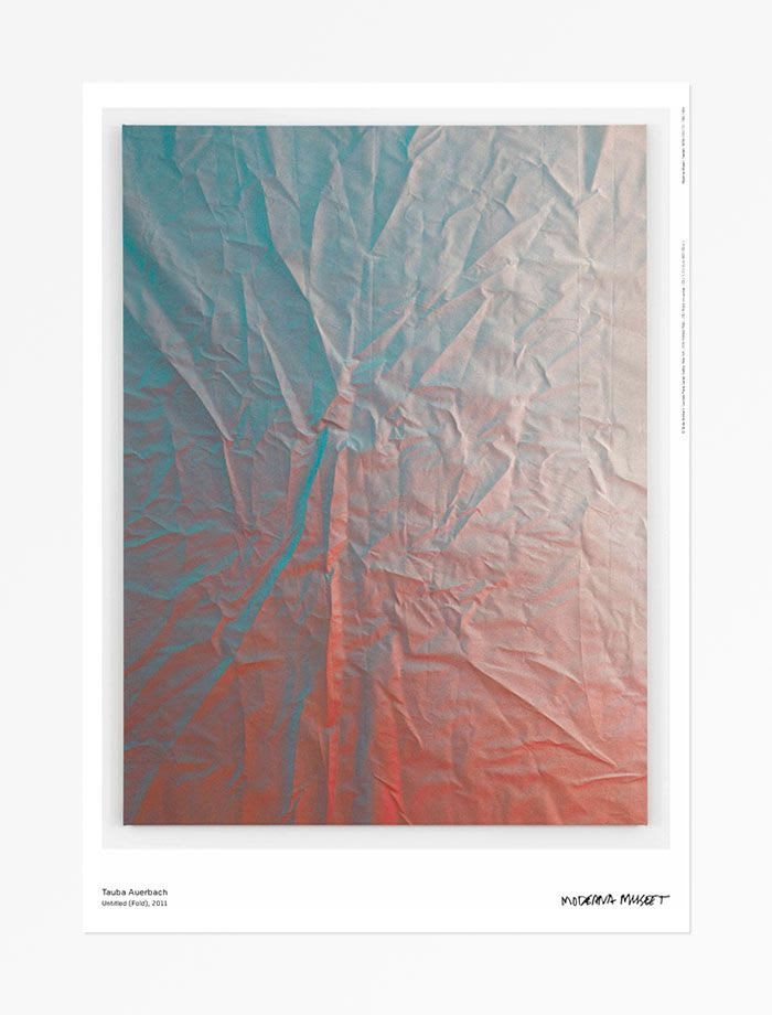 Tauba Auerbach Untitled (Fold) , 2016 Poster 19 3/4 x 27 1/2 in 50 x 70 cm