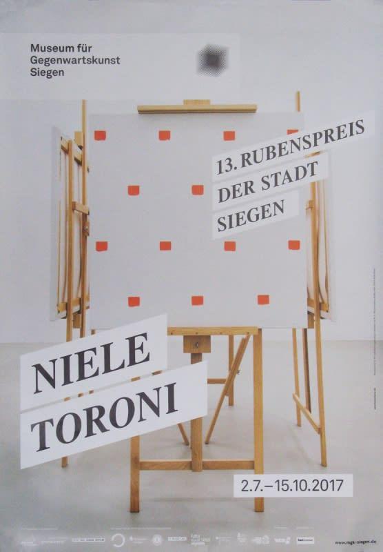 Niele Toroni Museum für Gegenwartskunst Siegen, 2017 Poster 33 x 23.23 in 84 x 59 cm