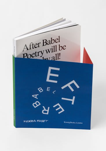 Various Artists After Babel Poetry Will be Made For All Book 8 1/4 x 11 1/8 x 3/8 in 21 x 28 x 1 cm