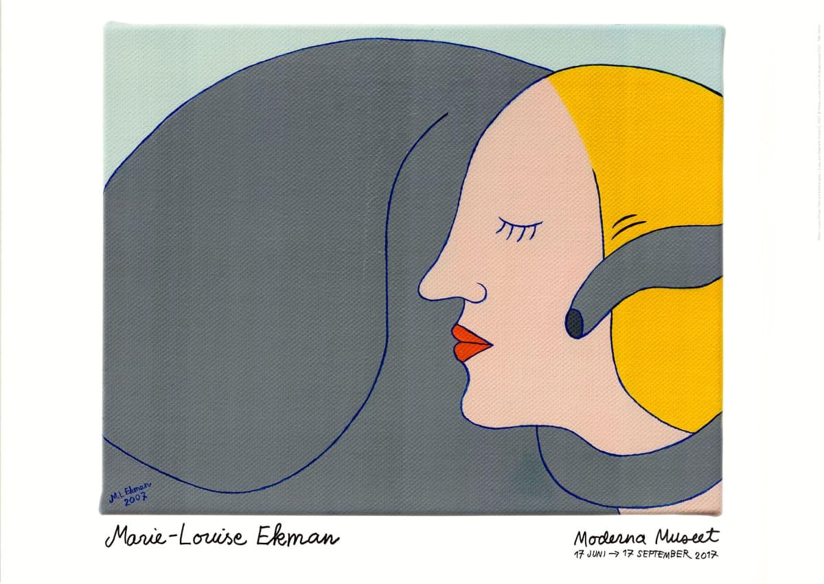 Marie-Louise Ekman Dam och elefantgata II (Lady and Elephant Street II), 2017 Poster (19.68 x 27.56 in) 50 x 70 cm