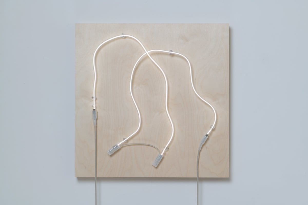 Annesta Le Exposed Form No.4, 2019 Neon (krypton, glass, wire) on wood panel 24 x 24 x 5 in 61 x 61 x 12.7 cm