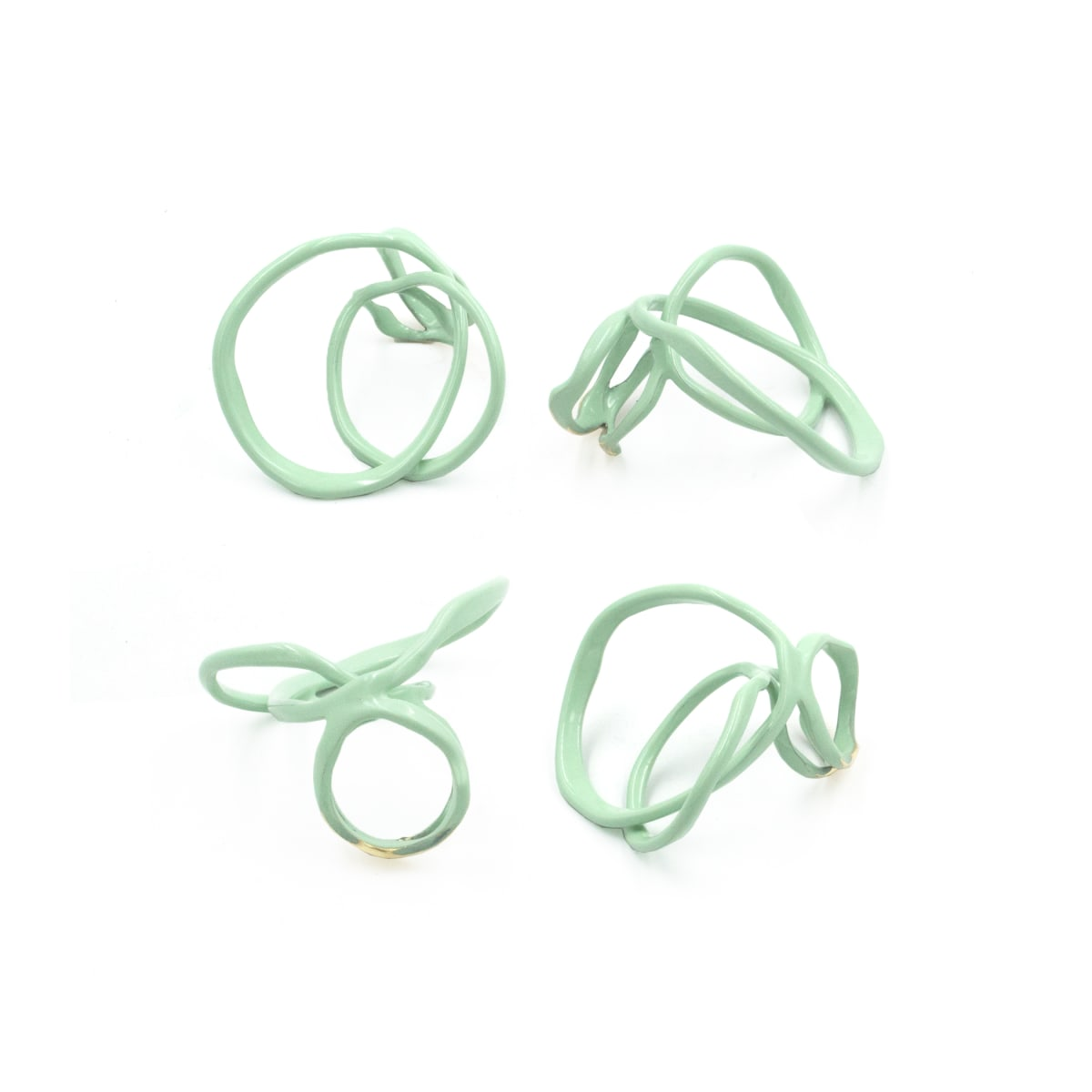 Laura Wood, Open Weave Ring Double Mint