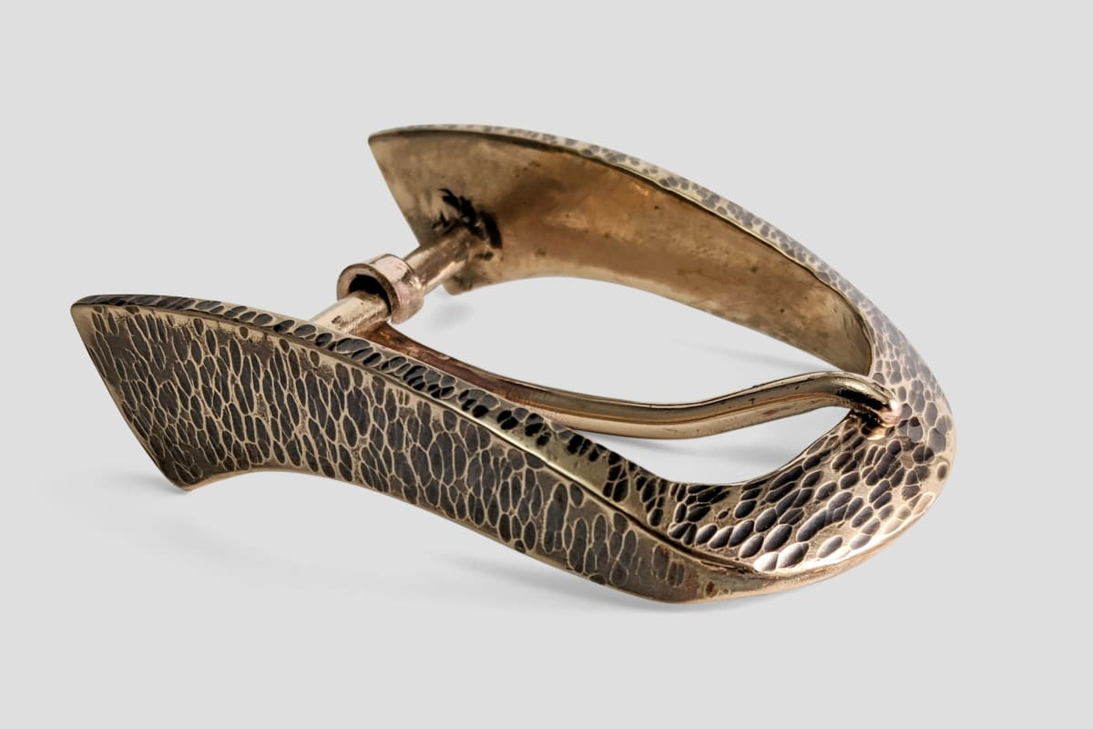 Peter Senesac, Clydesdale Buckle in Bronze for 1.5 inch belts, 2020