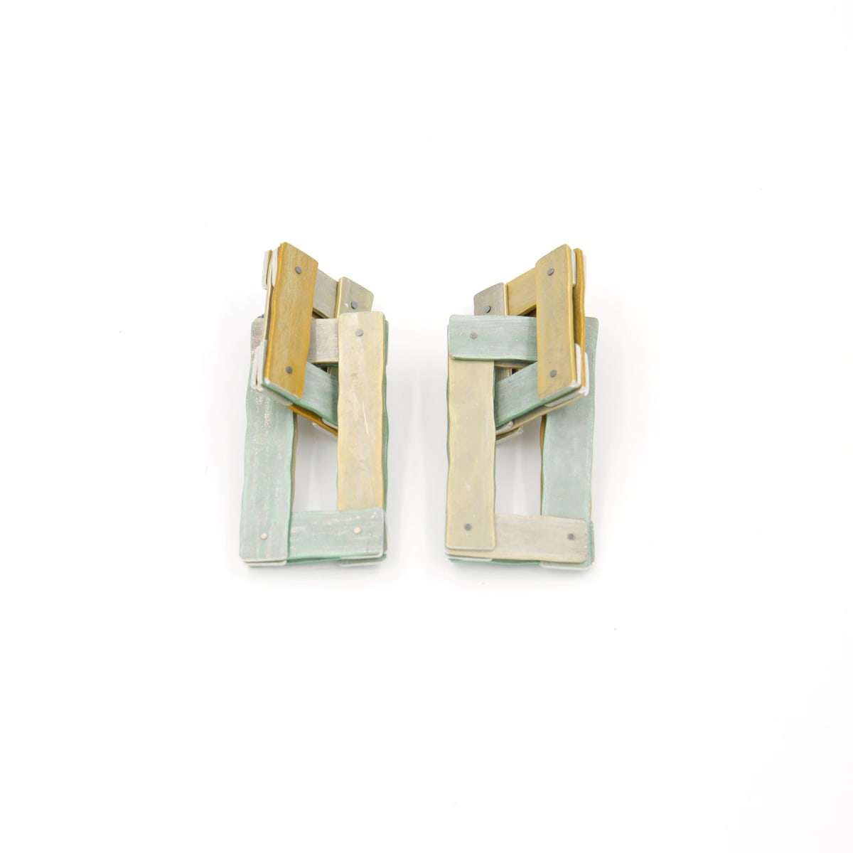 Taylor Zarkades King, Planked Chain Link Earrings