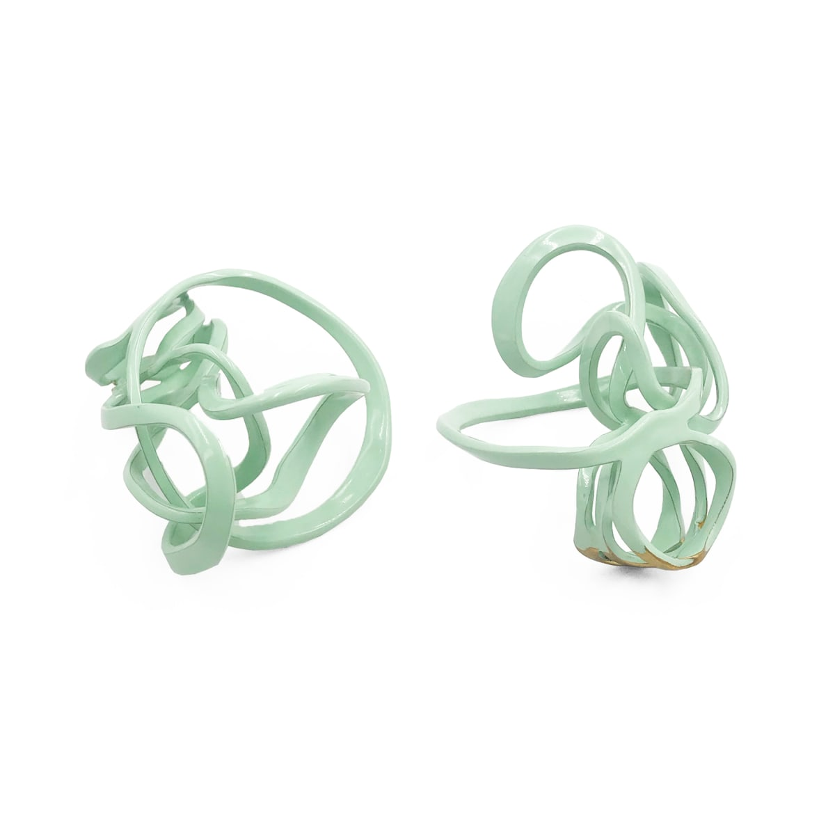 Laura Wood, Open Weave Triple Ring Mint