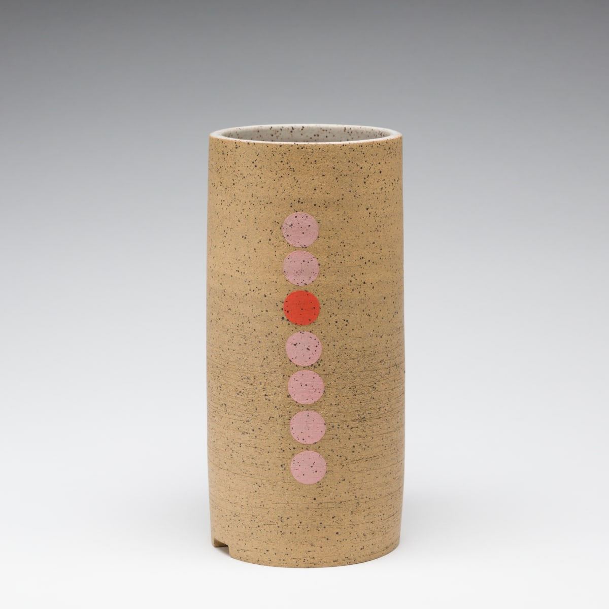 Rachel Donner, Speckled Vase with Pink Circles, 2019