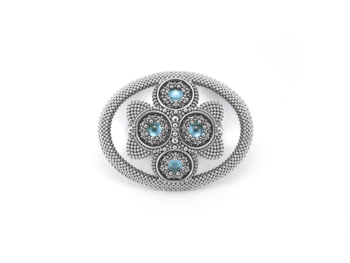 Ben Dory, Blue Rosette Ring