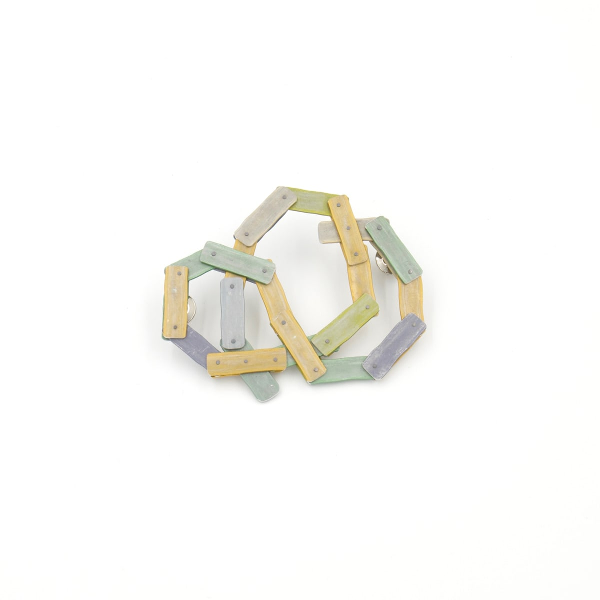 Taylor Zarkades King, Interlocking Lines Brooch