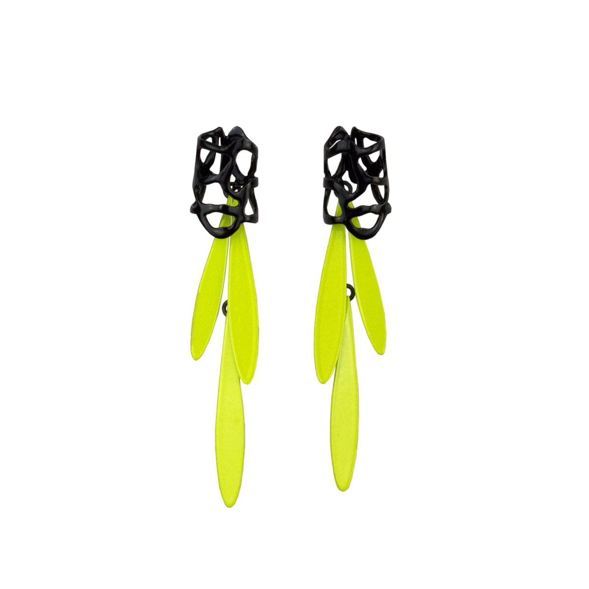 Laura Wood, Lace Stud and Fringe Earring
