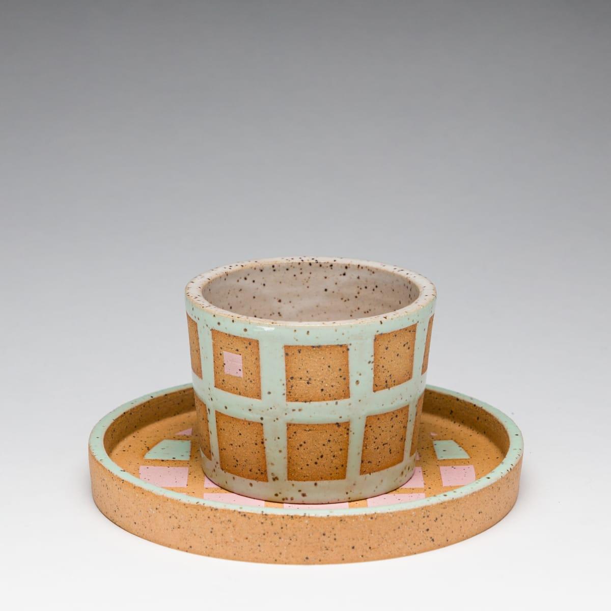 Rachel Donner, Pink and Blue Speckled Espresso Set, 2019
