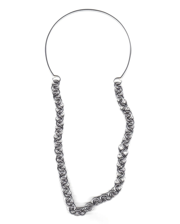 Rebekah Frank, Untitled, Single Horseshoe Curve, Heavy Chain, 2018
