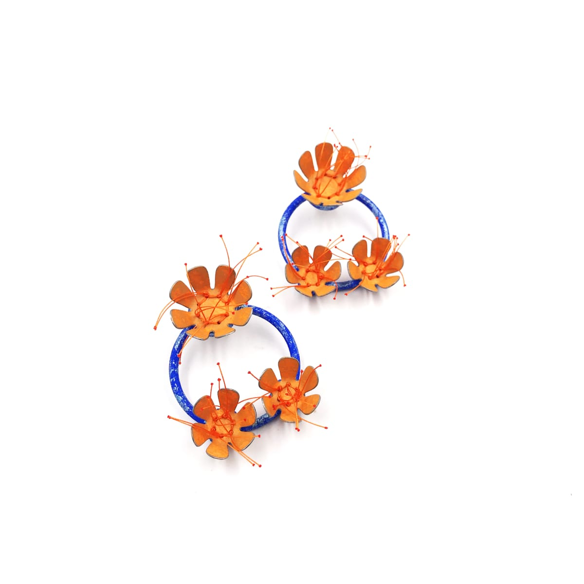 Aric Verrastro, The Bigger the Bloom…(Orange and Blue)