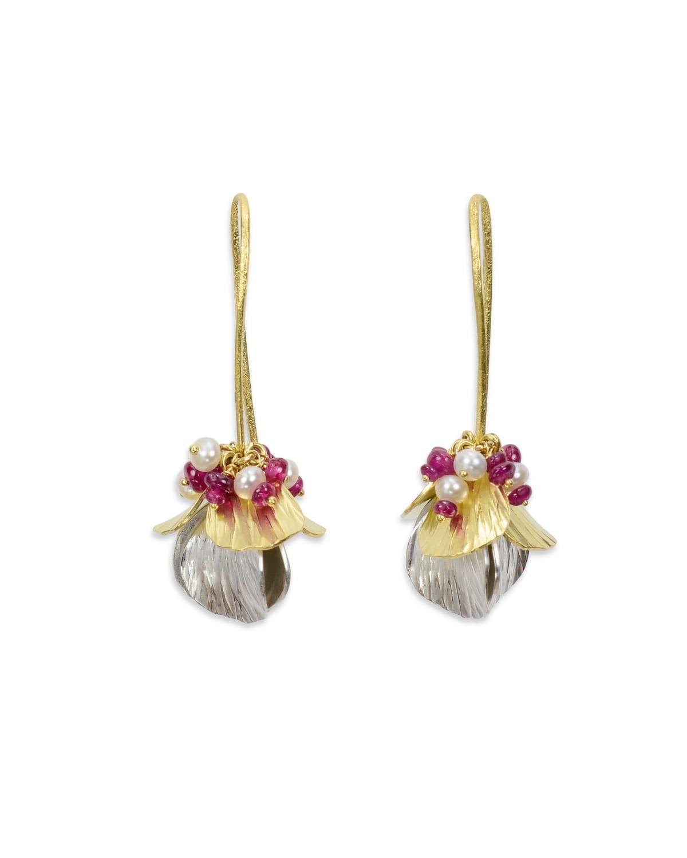 Cheryl Rydmark, Forged Petal Earrings, 2015