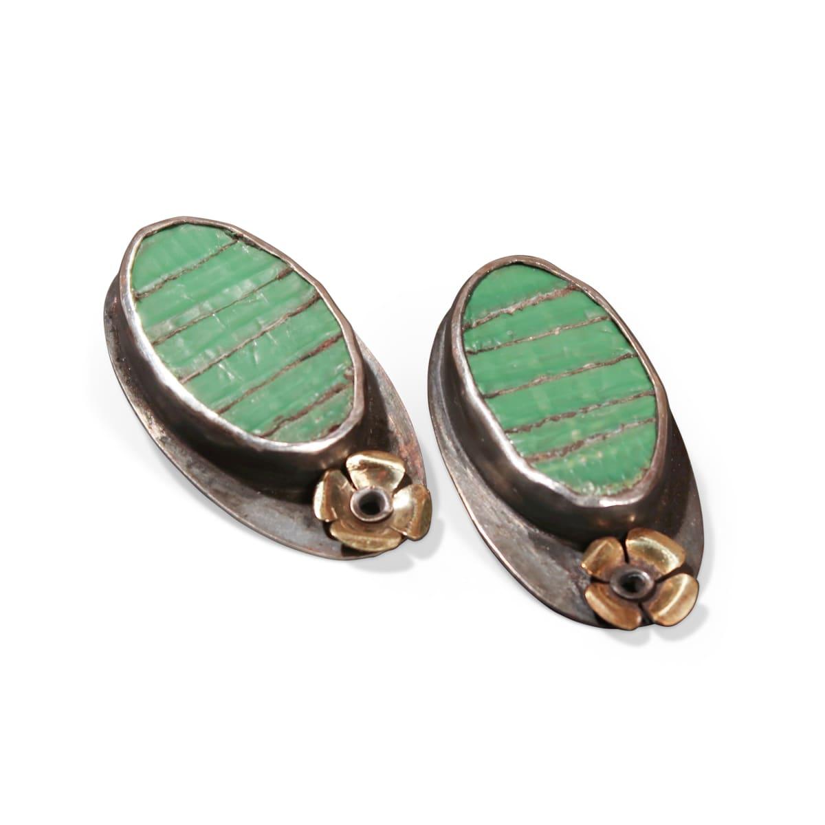 Ellen Wieske, Green Earrings, 2018