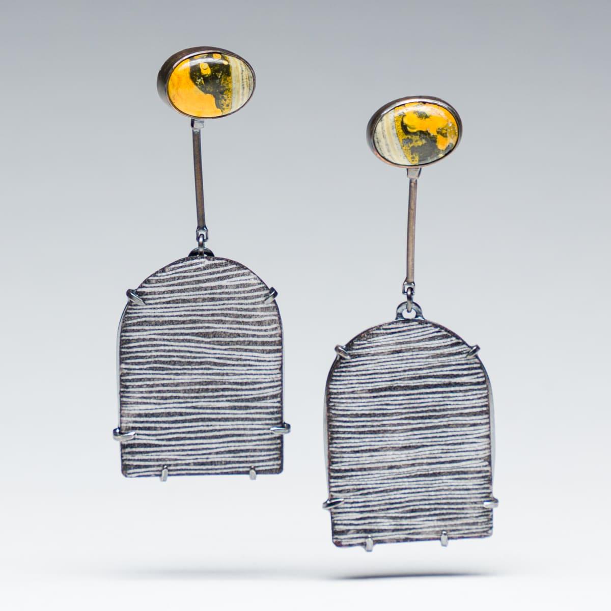 Tanya Crane, Enamel + stone earrings