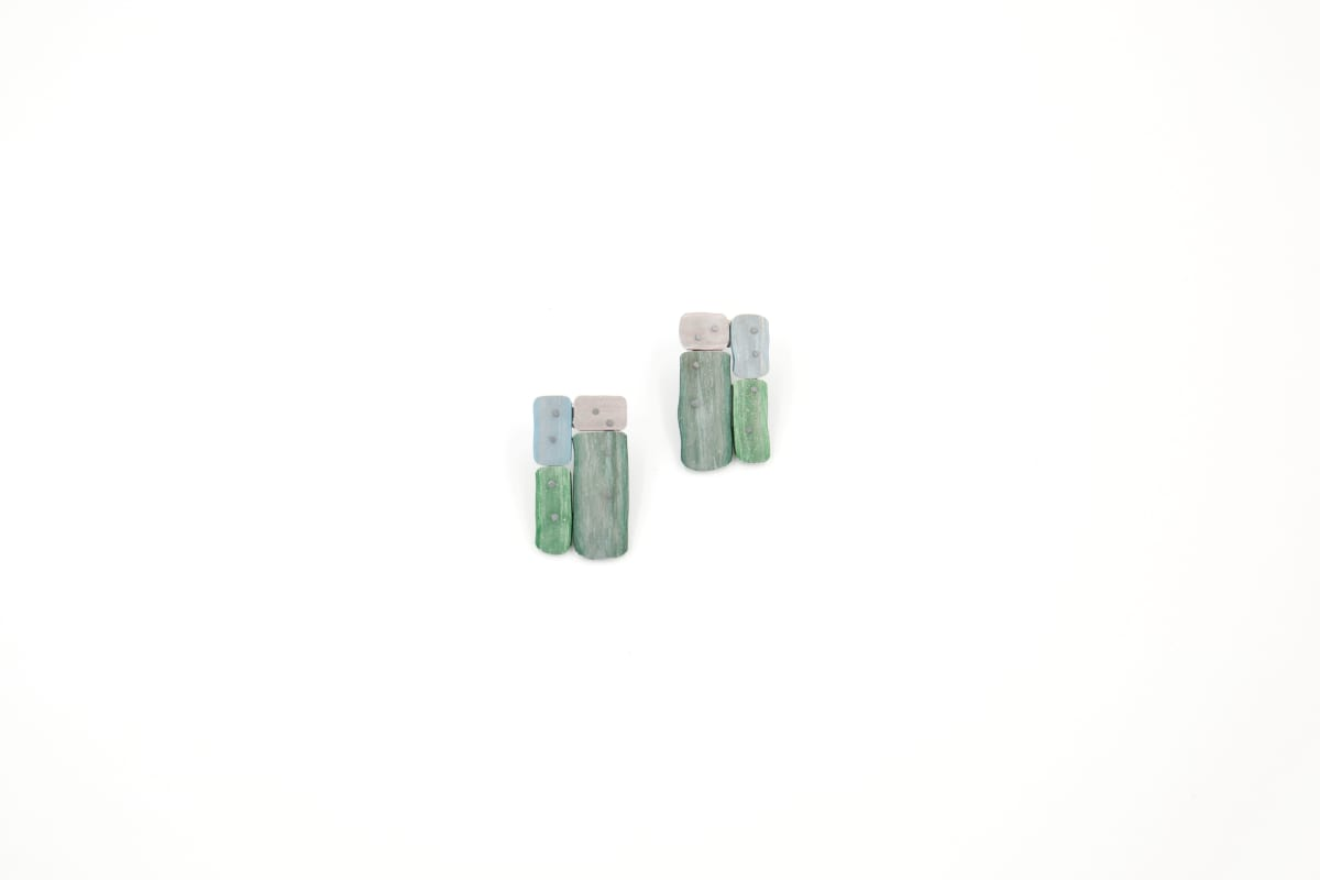 Taylor Zarkades King, Color Scrap Earrings