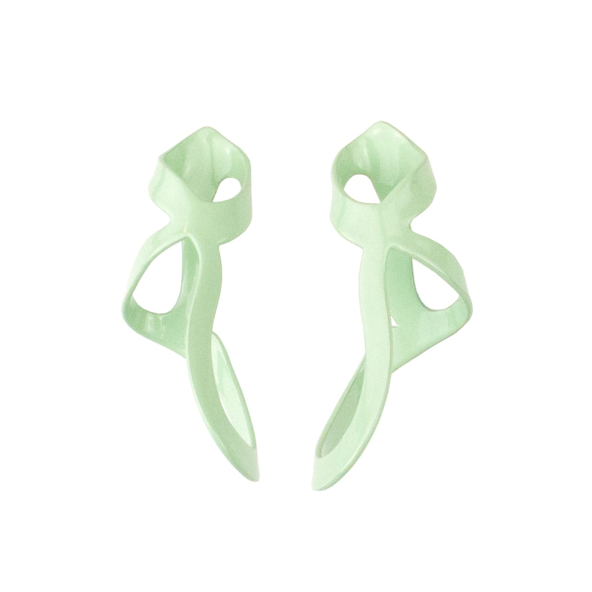 Laura Wood, Open Weave Drip Earrings