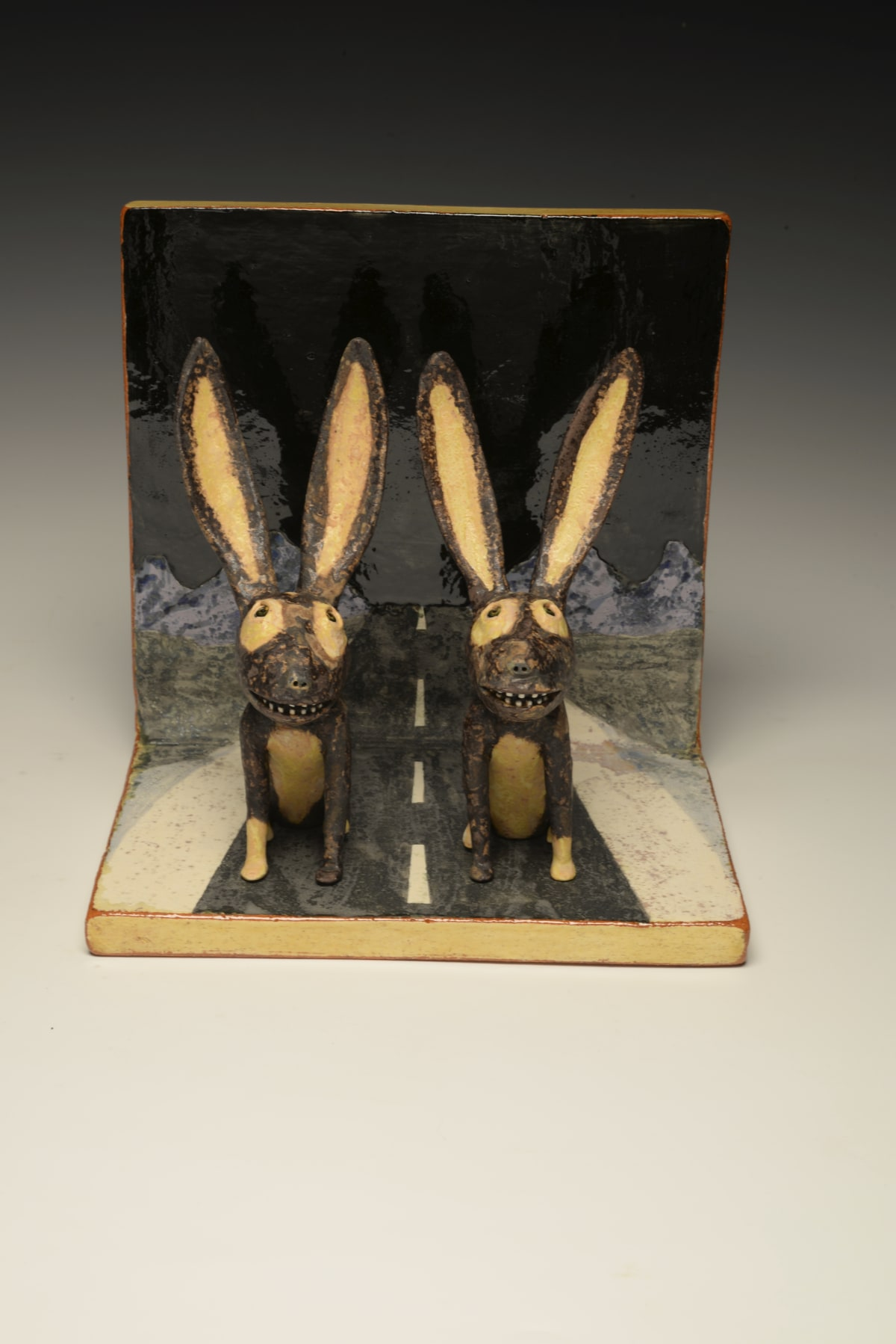 Wesley Anderegg, Jack Rabbits in the Road, 2020