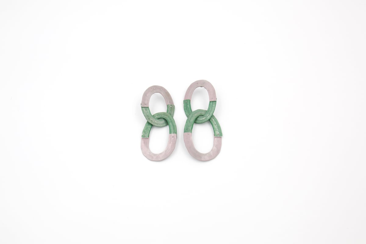 Taylor Zarkades King, Lumin Link Earrings