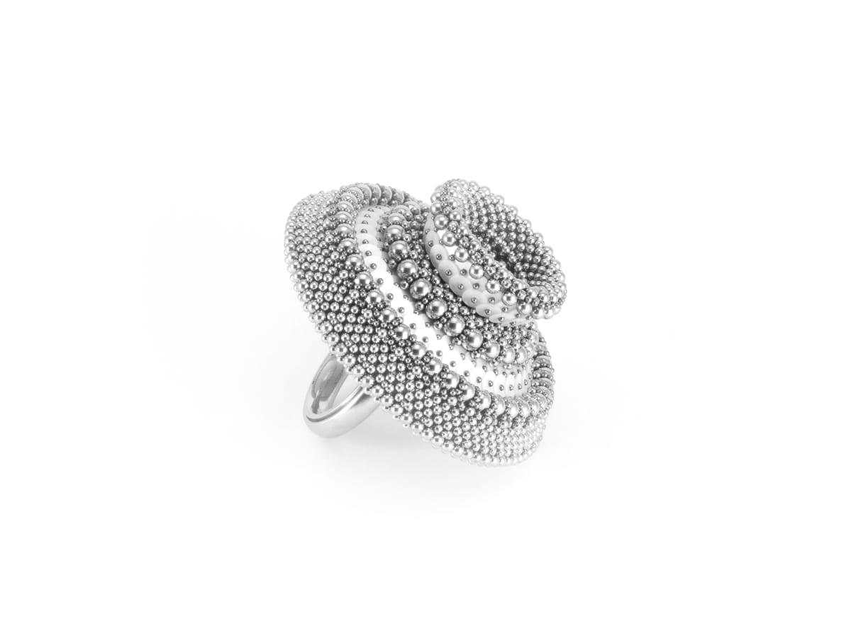 Ben Dory, White Sequin Ring iii