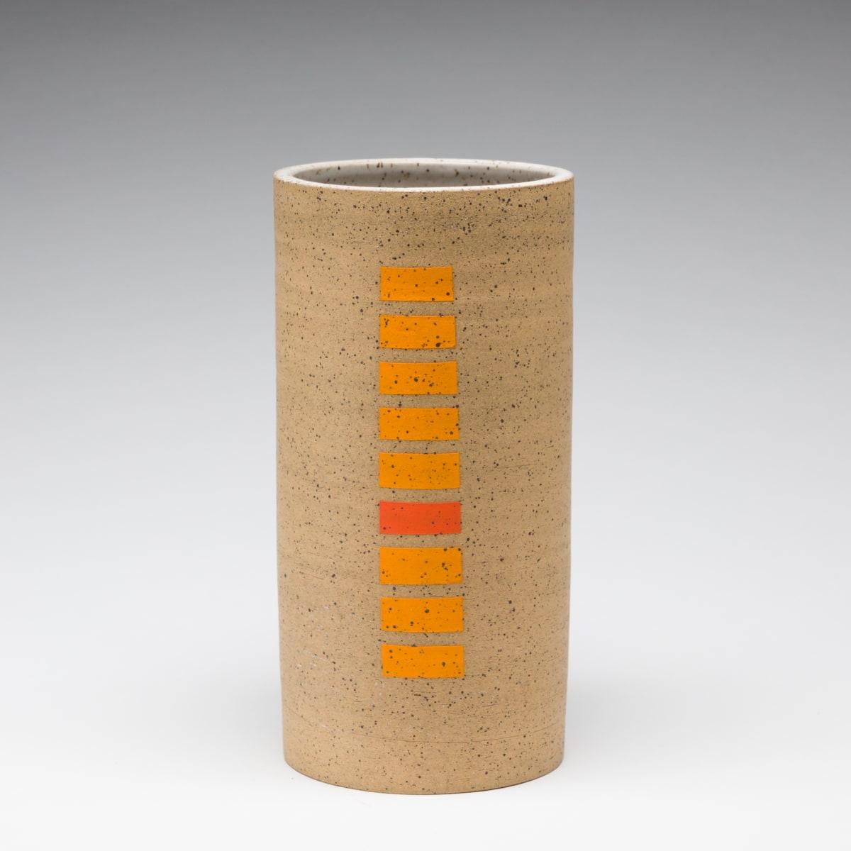 Rachel Donner, Speckled Vase with Orange Rectangles, 2019