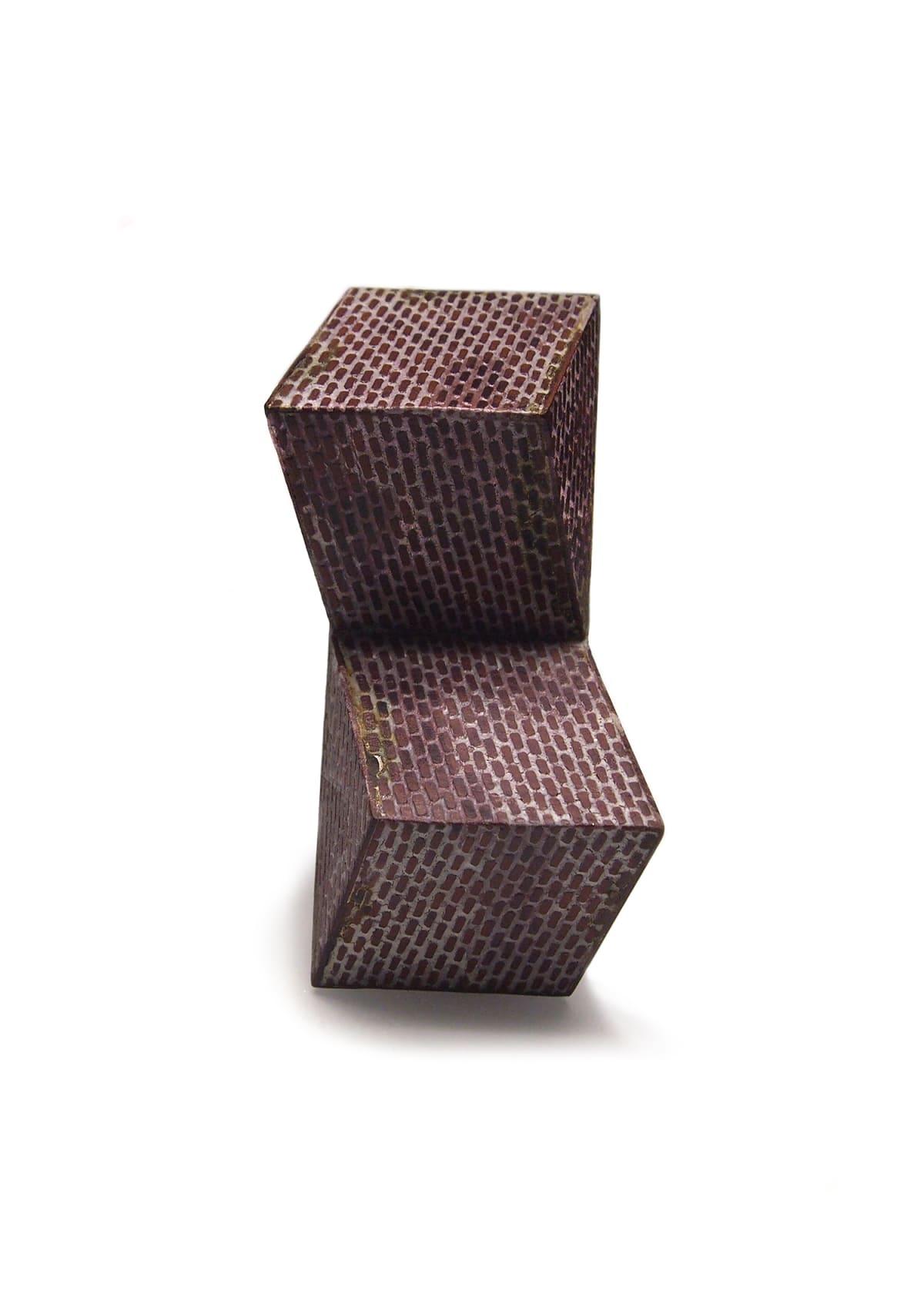 Sharon Massey, Brickwork Twist Brooch, 2017