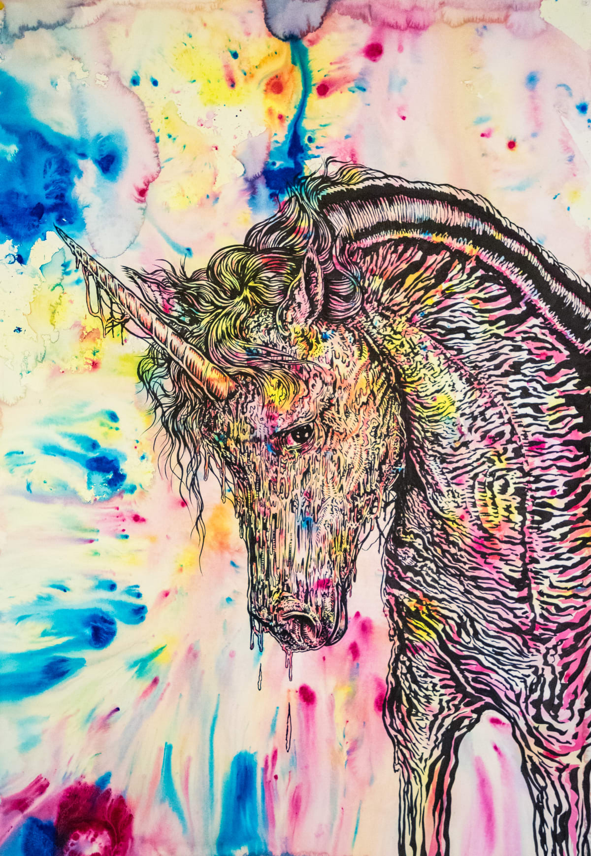 Todd Ryan White, Dispirit Animal (Melting Unicorn), 2019