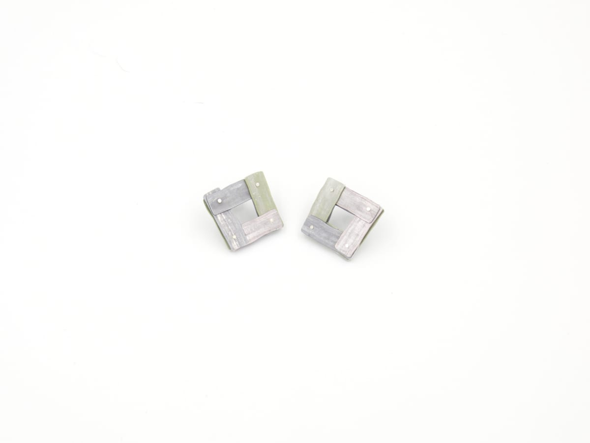 Taylor Zarkades King, Planked Earrings