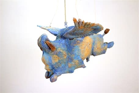 Armond Lara | Flying Blue Buffalo Installation