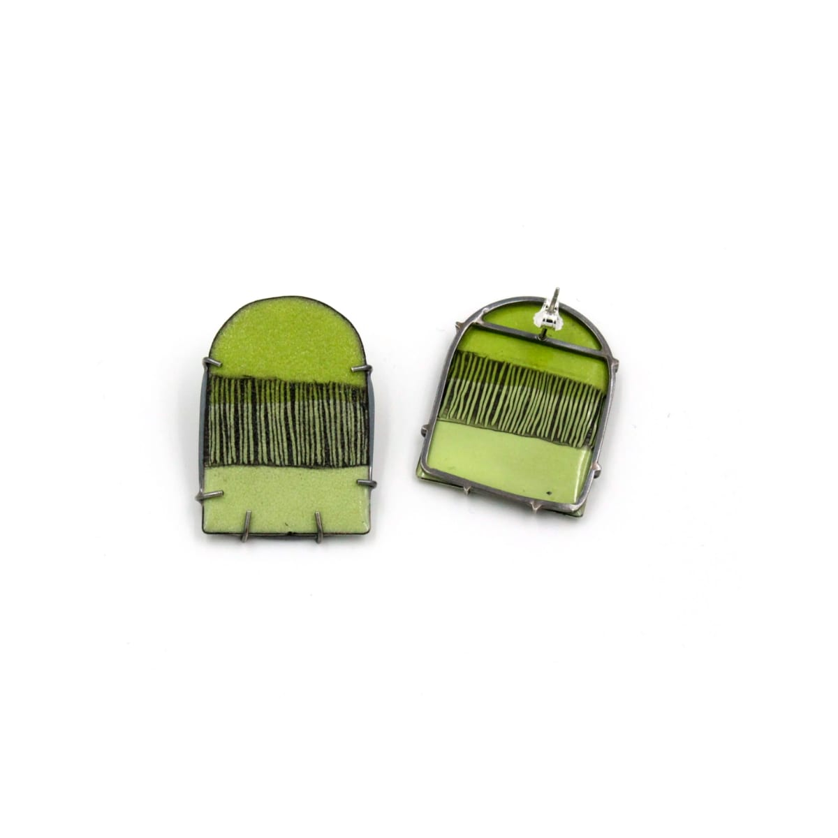 Tanya Crane, Bitter Triple Dash + Arc earrings small