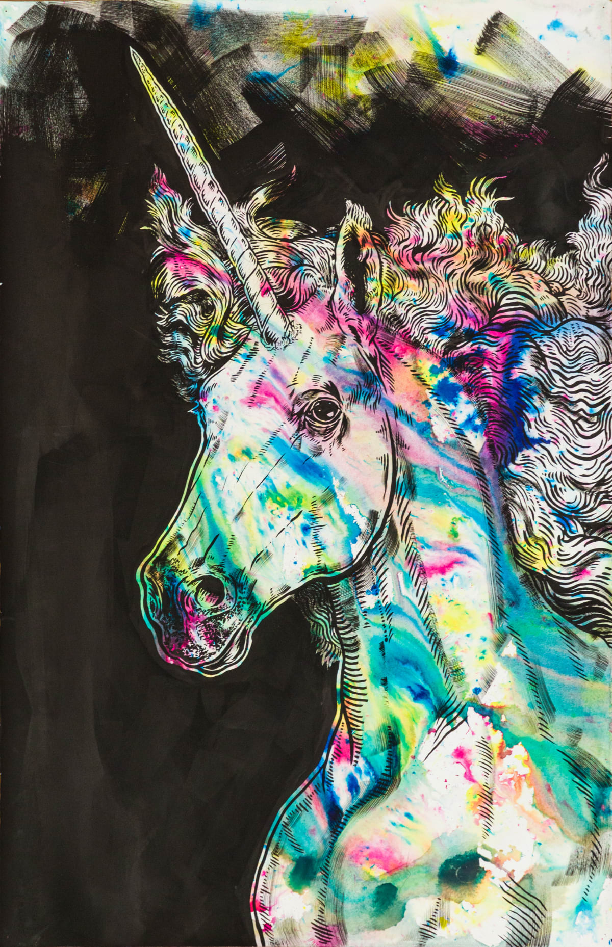 Todd Ryan White, Black Rainbow: Unicorn, 2019